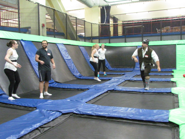 Trampoline Dodgeball - AFC Veterinary Challenge 2015 – Manchester Vet Clinic - CT