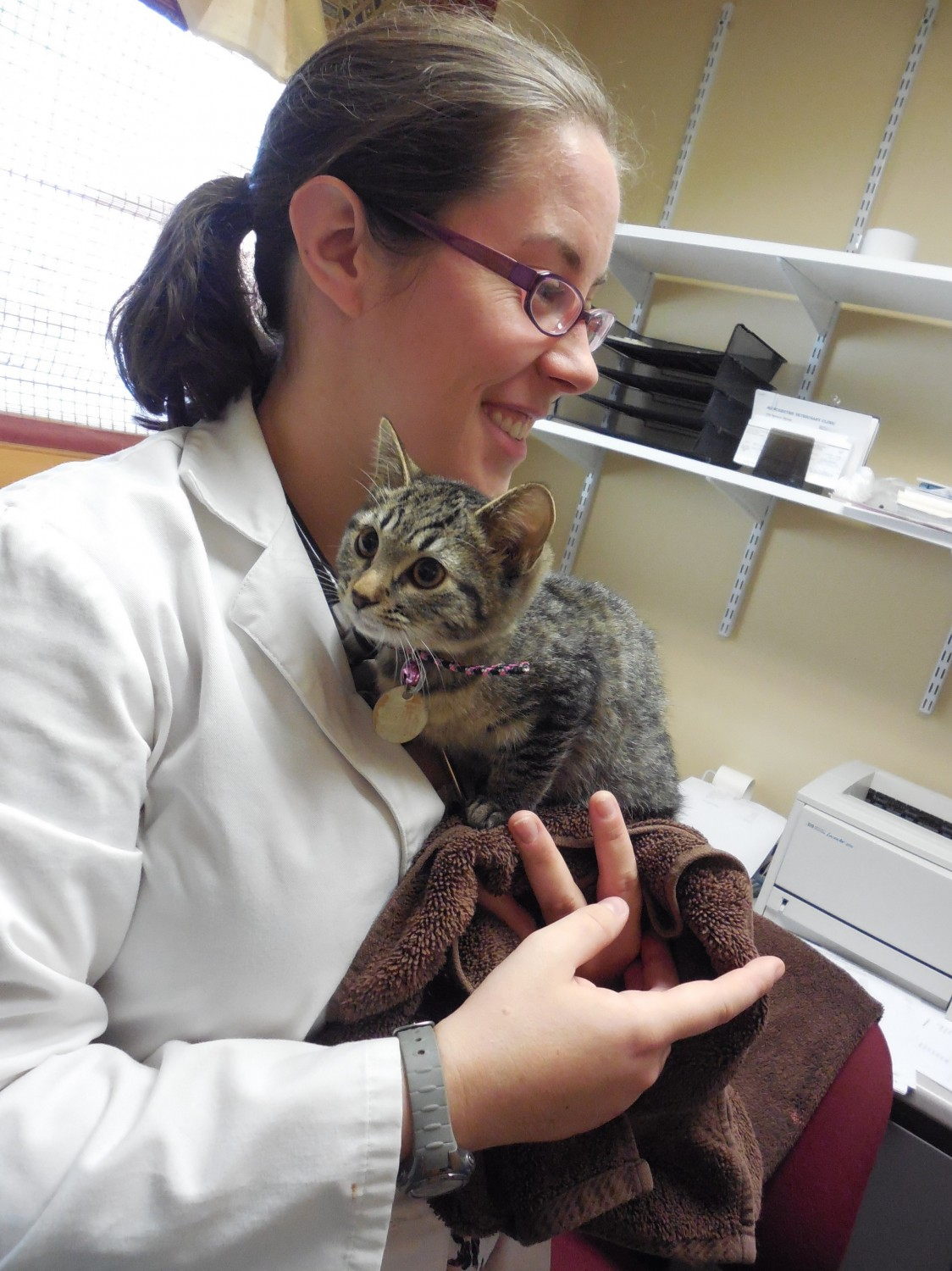 Dr. Allen and her girls - Manchester Veterinary Clinic - CT